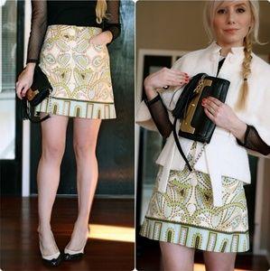 J Crew Trastevere Paisley Mini Skirt Retro Chic